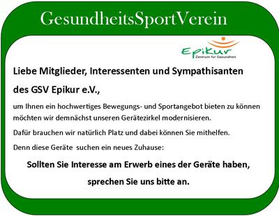 Sport- und Bewegungsgeräte zu verkaufen
